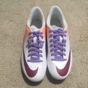 Nike Mercurial Orange/White/Purple Cleats Sz 7.5
